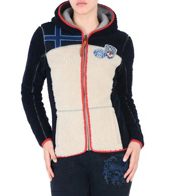 NAPAPIJRI YUPIK HOOD WOMAN FLEECE,IVORY