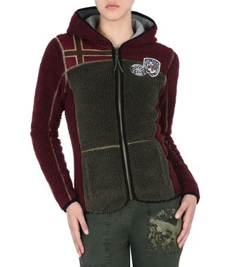 NAPAPIJRI YUPIK HOOD WOMAN FLEECE,MAROON