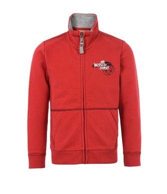 NAPAPIJRI K BABOS FULL ZIP KID KID ZIP SWEATSHIRT,RED