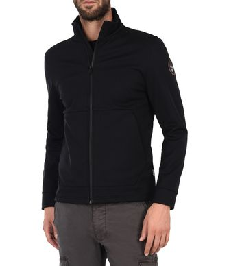 NAPAPIJRI ADDIS SOFT SHELL MAN ZIP SWEATSHIRT,BLACK