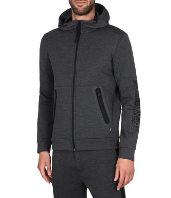 NAPAPIJRI BEAR HOOD FULL ZIP MAN HOODIE,STEEL GREY