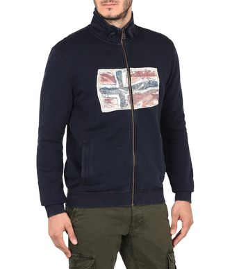 NAPAPIJRI BABOS FULL ZIP MAN ZIP SWEATSHIRT,DARK BLUE