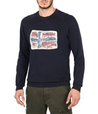 NAPAPIJRI BABOS MAN SWEATSHIRT,DARK BLUE