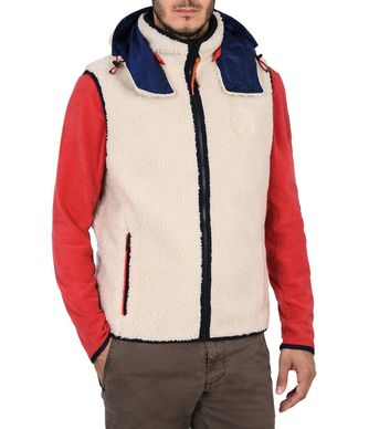 NAPAPIJRI TERAH REVERSIBLE VEST MAN FLEECE,IVORY
