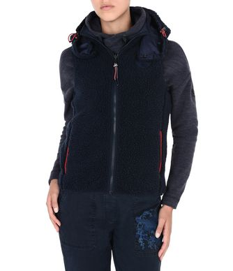 NAPAPIJRI TERAH REVERSIBLE VEST WOMAN FLEECE,DARK BLUE