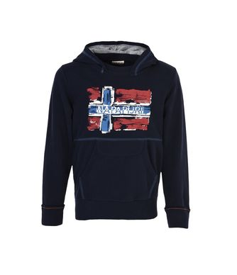 NAPAPIJRI K BABOS HOOD JUNIOR KID HOODIE,DARK BLUE