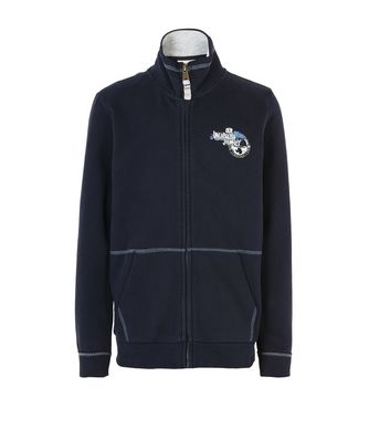 NAPAPIJRI K BABOS FULL JUNIOR KID ZIP SWEATSHIRT,DARK BLUE