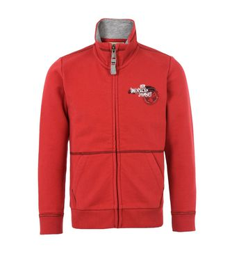 NAPAPIJRI K BABOS FULL JUNIOR KID ZIP SWEATSHIRT,RED