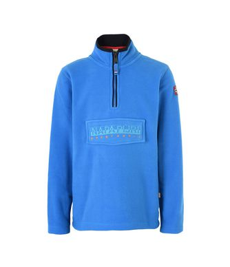 NAPAPIJRI K TAMBO HALF KID HALF ZIP FLEECE,BLUE