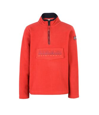 NAPAPIJRI K TAMBO JUNIOR KID HALF ZIP FLEECE,RED
