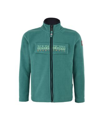 NAPAPIJRI K TAMBO FULL ZIP JUNIOR KID FLEECE,EMERALD GREEN