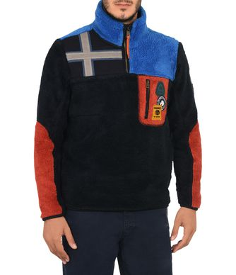 NAPAPIJRI YUPIK MAN ZIP SWEATSHIRT,DARK BLUE