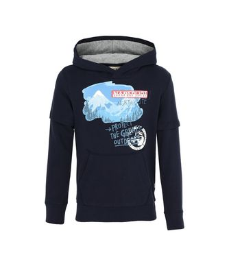 NAPAPIJRI K BOLD JUNIOR KID HOODIE,DARK BLUE