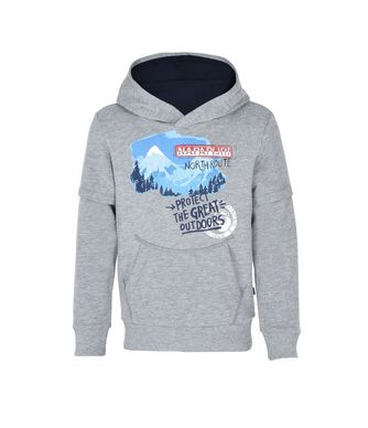 NAPAPIJRI K BOLD JUNIOR KID HOODIE,GREY