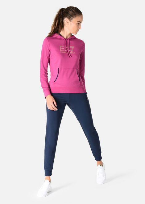 Tracksuit in stretch cotton