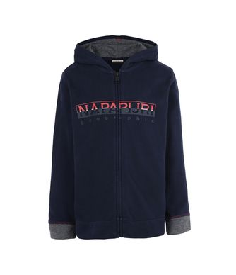 NAPAPIJRI K BOYSTER FULL ZIP JUNIOR KID ZIP SWEATSHIRT,DARK BLUE