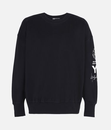 Y-3 GRAPHIC CREW SWEATER