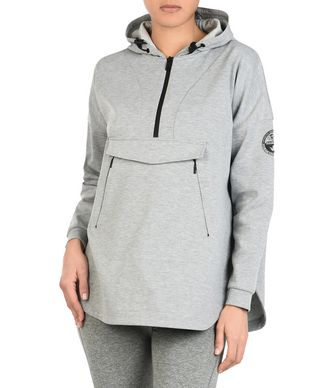 NAPAPIJRI BOK  WOMAN ZIP SWEATSHIRT,LIGHT GREY