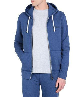 NAPAPIJRI BODO HOOD MAN ZIP SWEATSHIRT,DARK BLUE