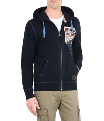 NAPAPIJRI BINER MAN ZIP SWEATSHIRT,DARK BLUE