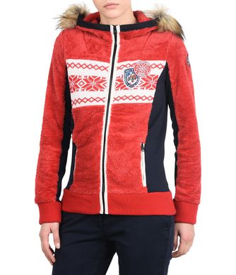 NAPAPIJRI TULSA ECO FUR  WOMAN FLEECE,RED