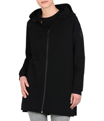 NAPAPIJRI BOK LONG WOMAN ZIP SWEATSHIRT,BLACK