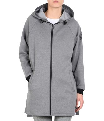 NAPAPIJRI BOK LONG WOMAN ZIP SWEATSHIRT,GREY