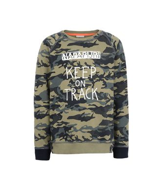 NAPAPIJRI K BARO JUNIOR KID SWEATSHIRT,MILITARY GREEN