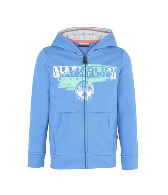 NAPAPIJRI K BIDO JUNIOR KID ZIP SWEATSHIRT,AZURE