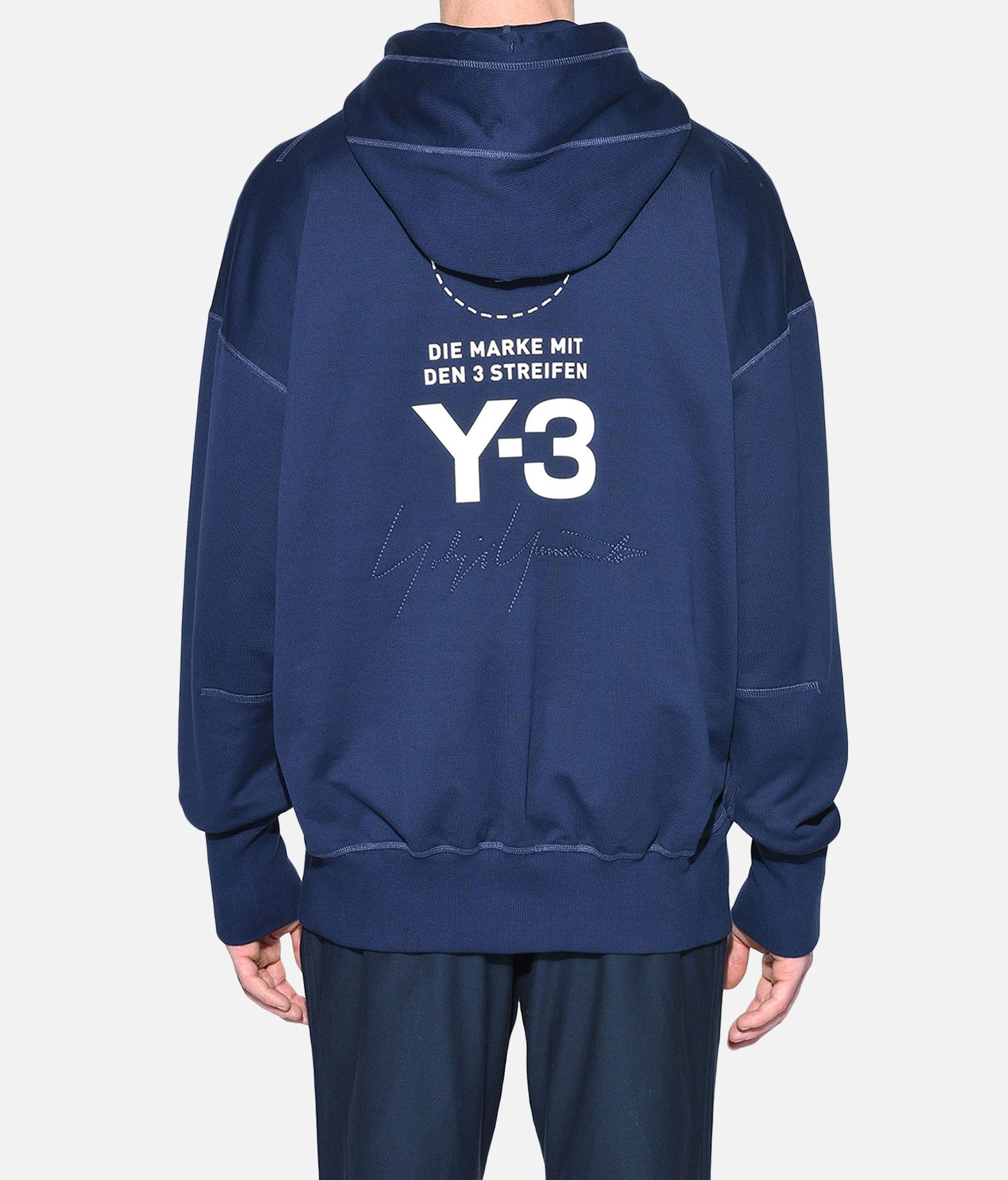 Y-3 Y-3 Stacked Logo Hoodie Hooded sweatshirt Man d