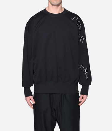 Y-3 Sweatshirt Man Y-3 Sashiko Slogan Sweater r