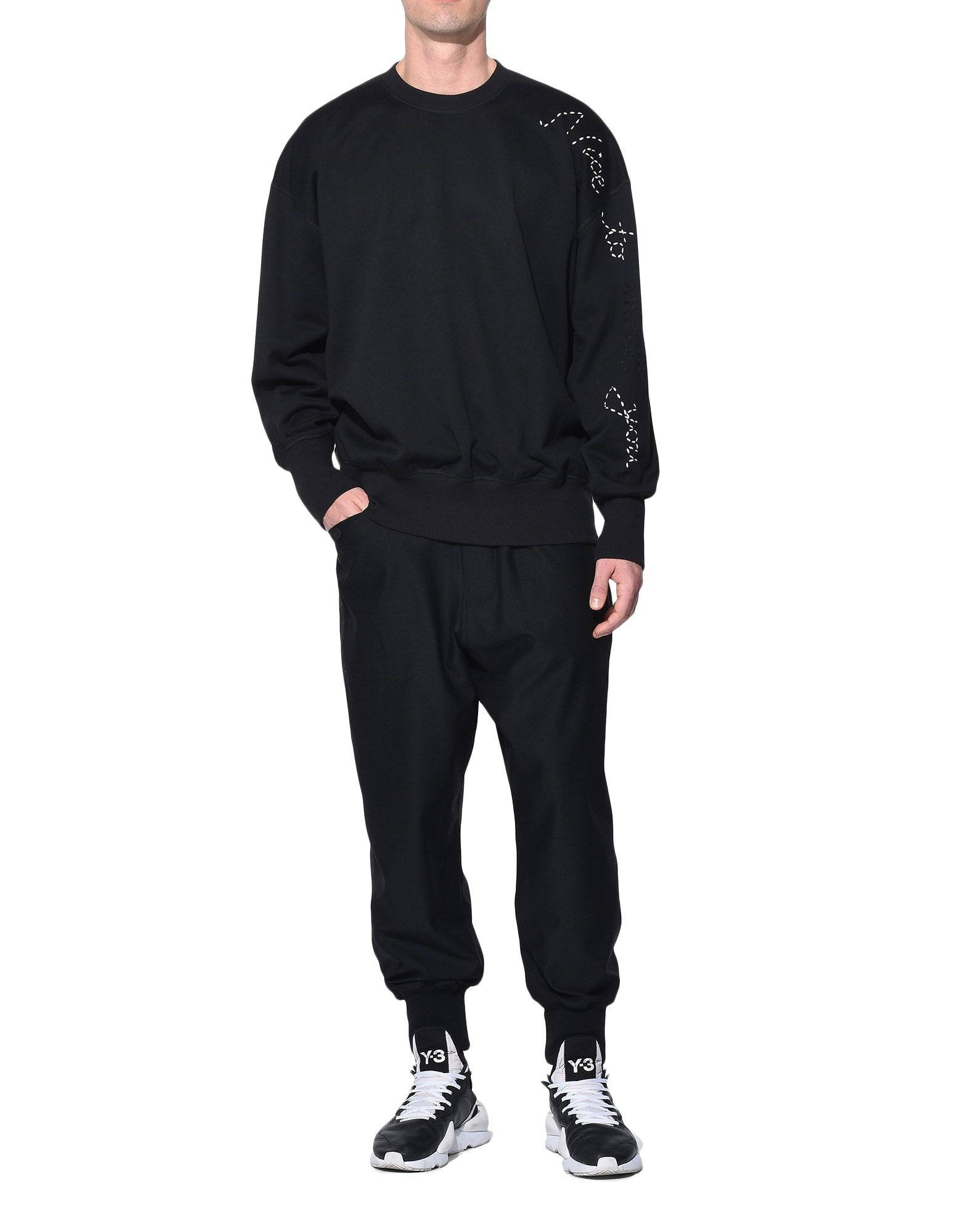 Y-3 Y-3 Sashiko Slogan Sweater Sweatshirt Man a