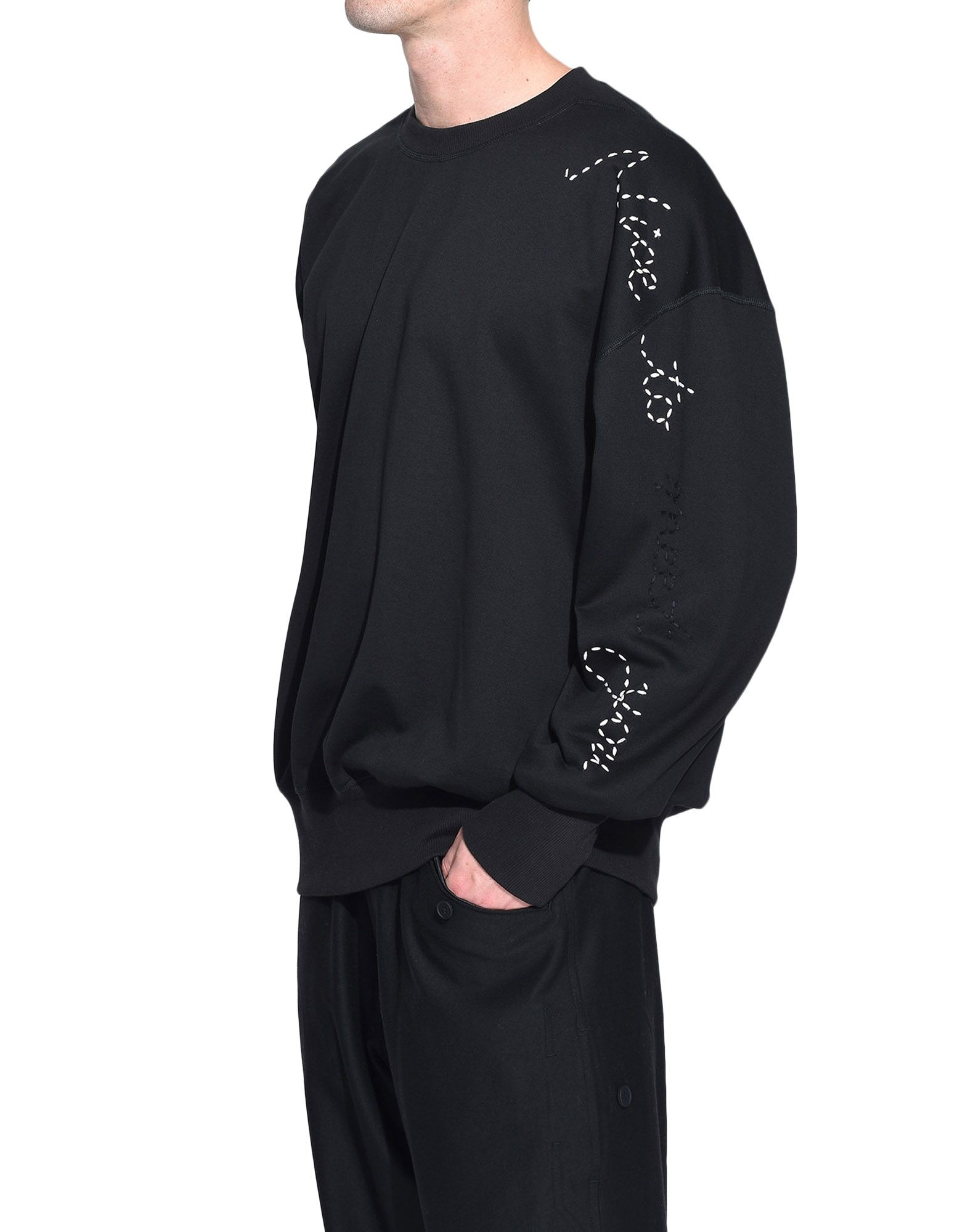 Y-3 Y-3 Sashiko Slogan Sweater Sweatshirt Man e