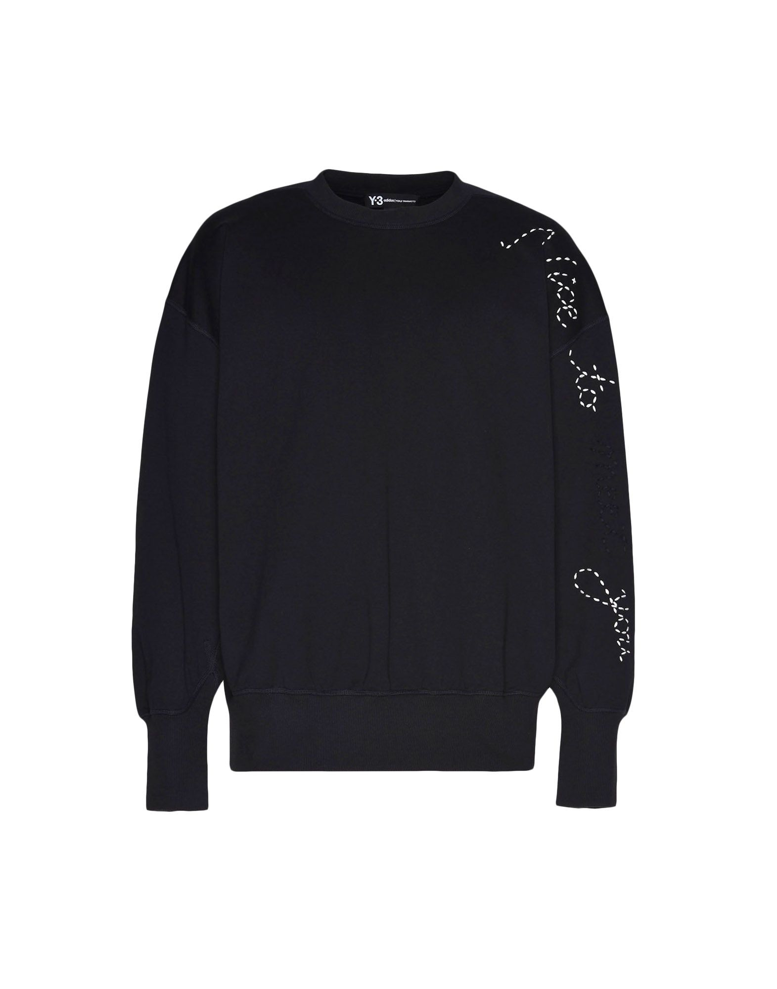 Y-3 Y-3 Sashiko Slogan Sweater Sweatshirt Man f