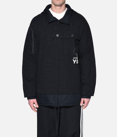 Y-3 Sweatshirt mit Kapuze Herren Y-3 Sashiko Layered Hoodie r