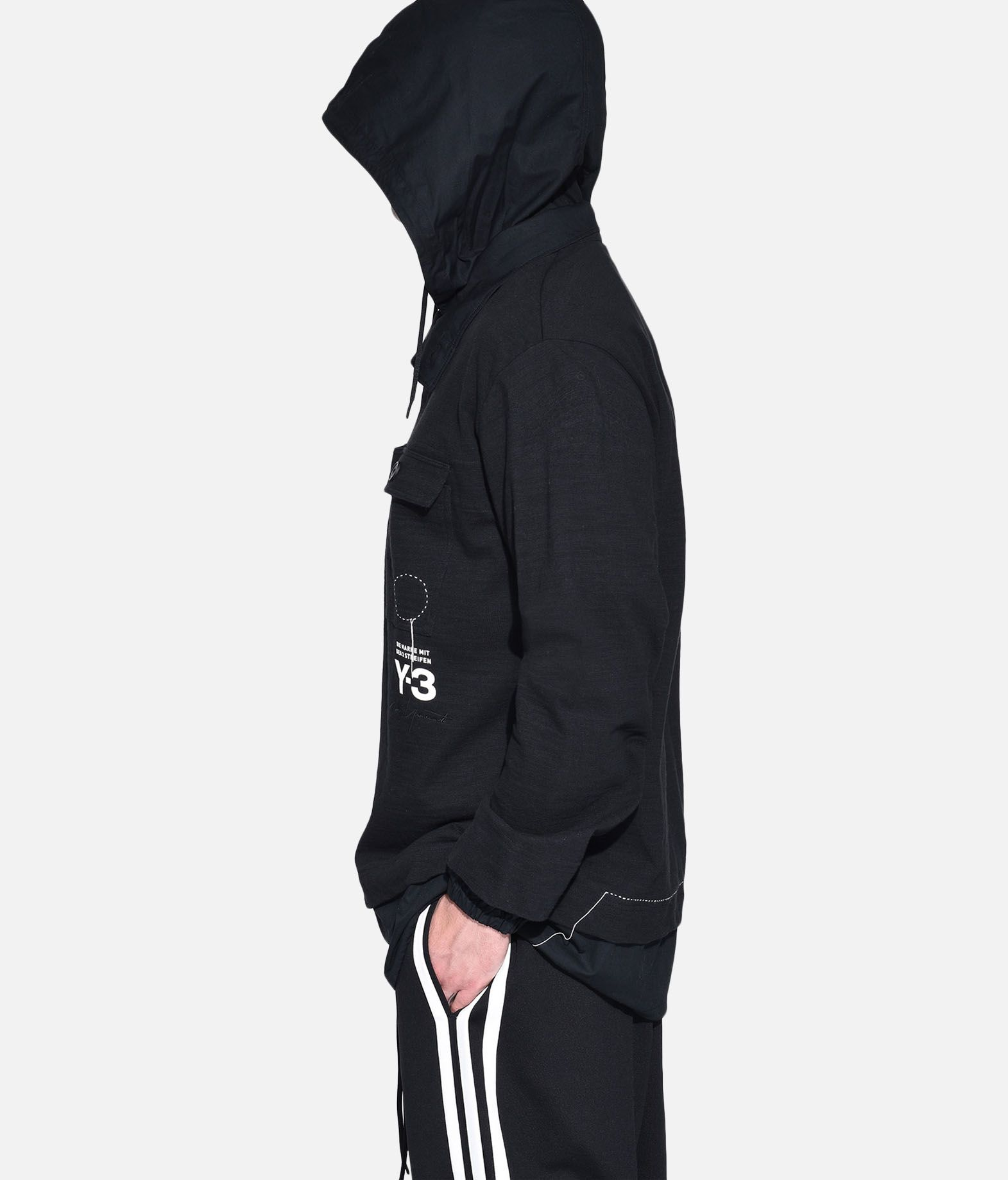 Y-3 Y-3 Sashiko Layered Hoodie Hooded sweatshirt Man e