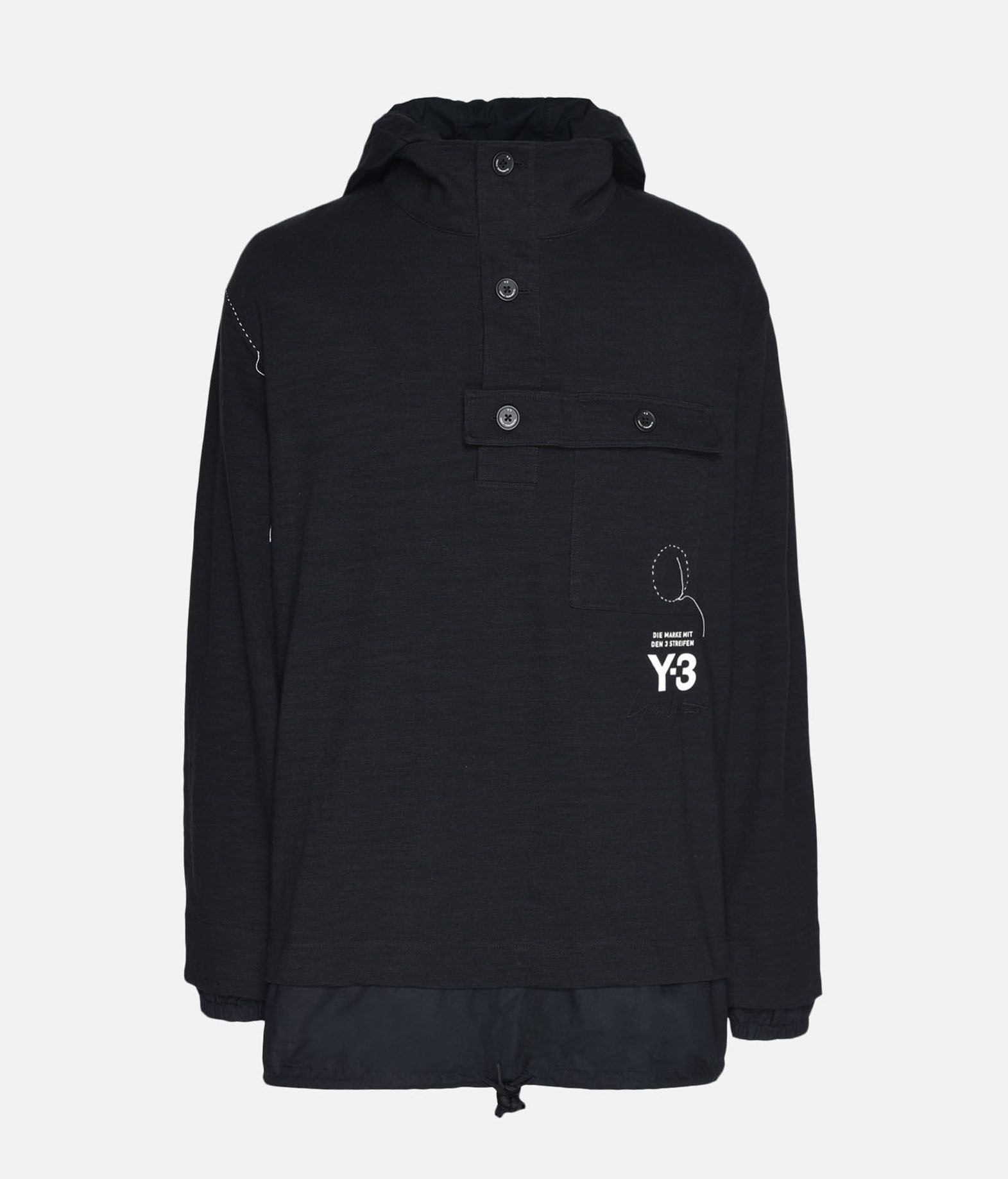 Y-3 Y-3 Sashiko Layered Hoodie Hooded sweatshirt Man f