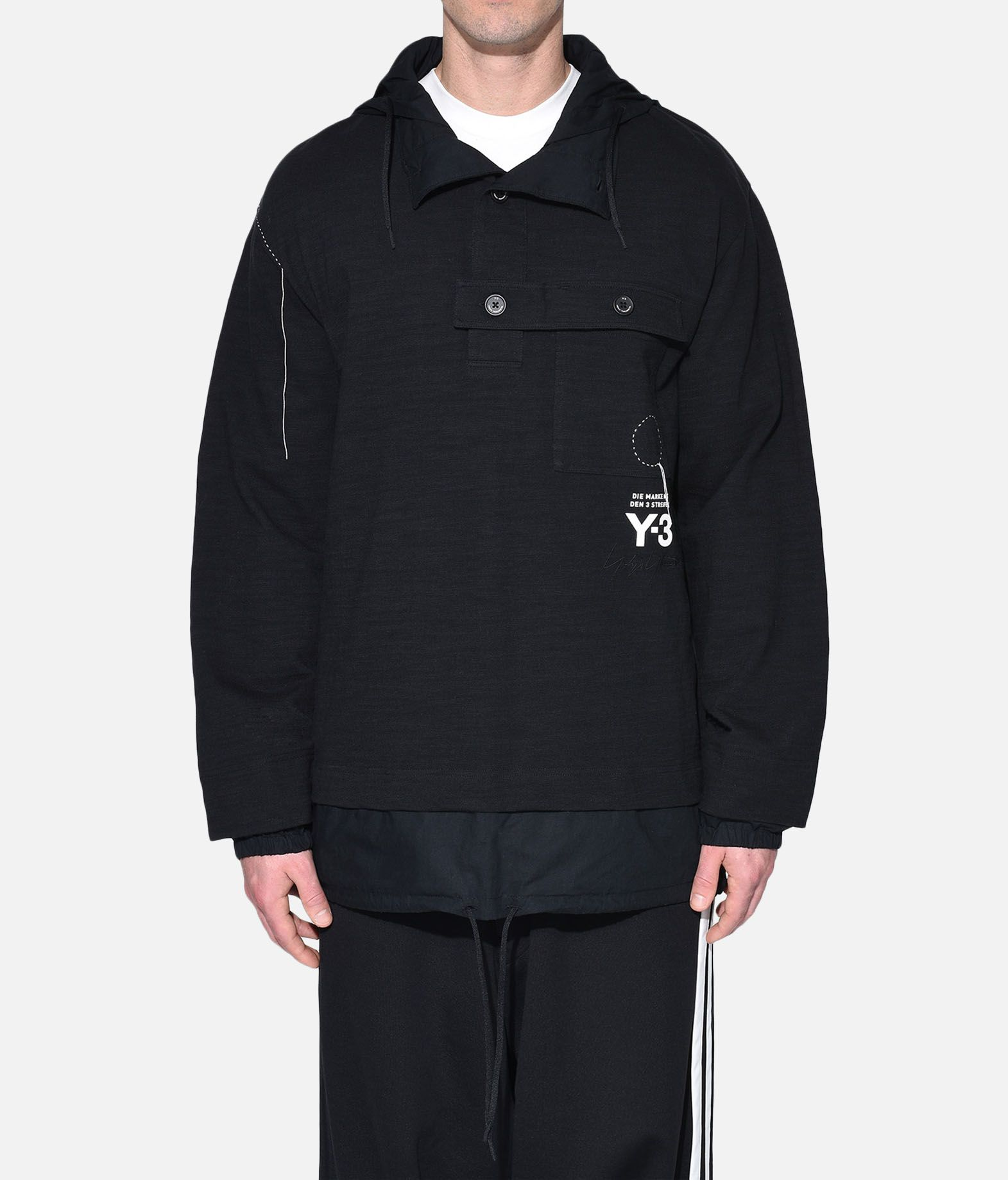 Y-3 Y-3 Sashiko Layered Hoodie Hooded sweatshirt Man r