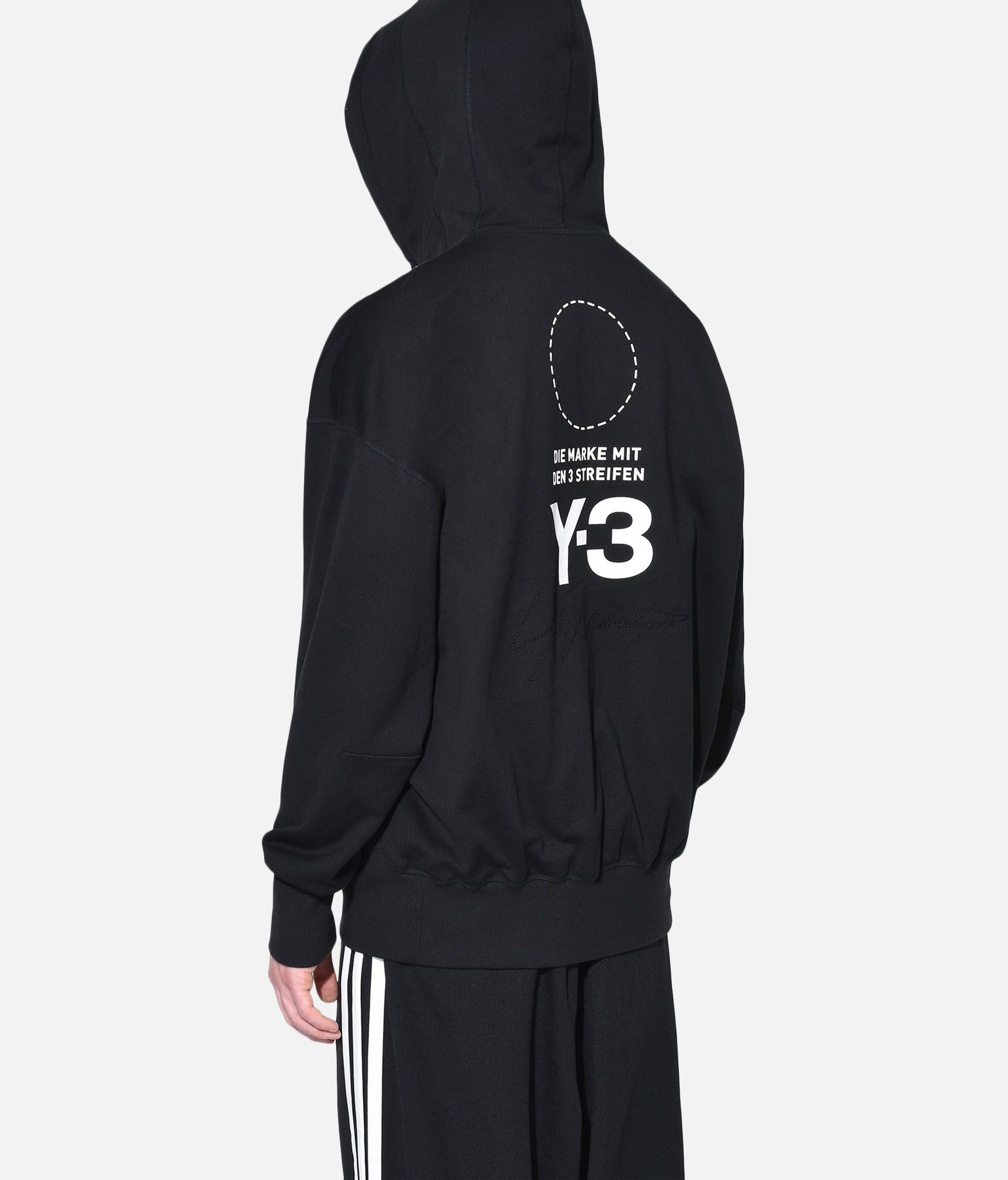 Y-3 Y-3 Stacked Logo Hoodie Hooded sweatshirt Man e
