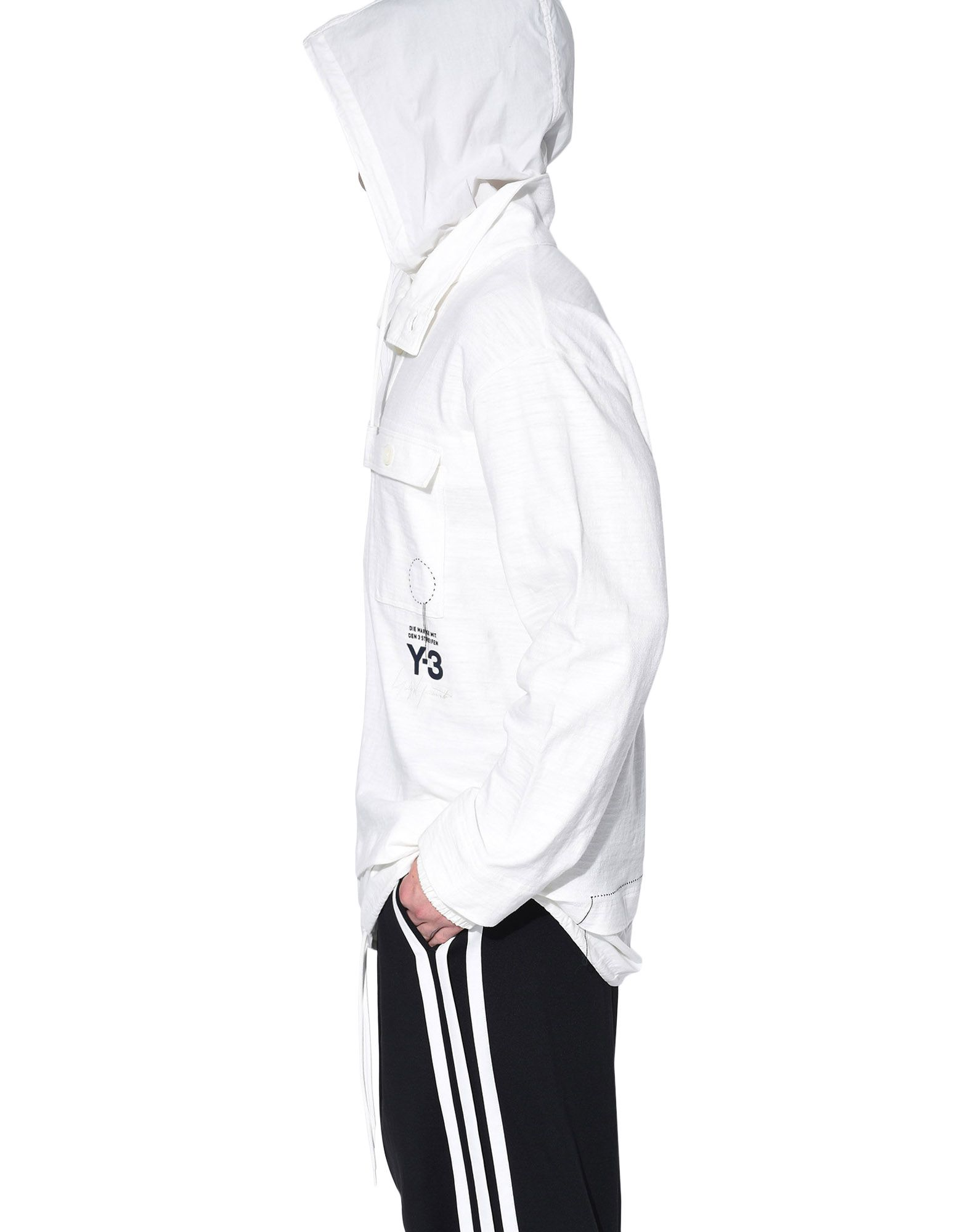 Y-3 Y-3 Sashiko Layered Hoodie Hooded sweatshirt Man e