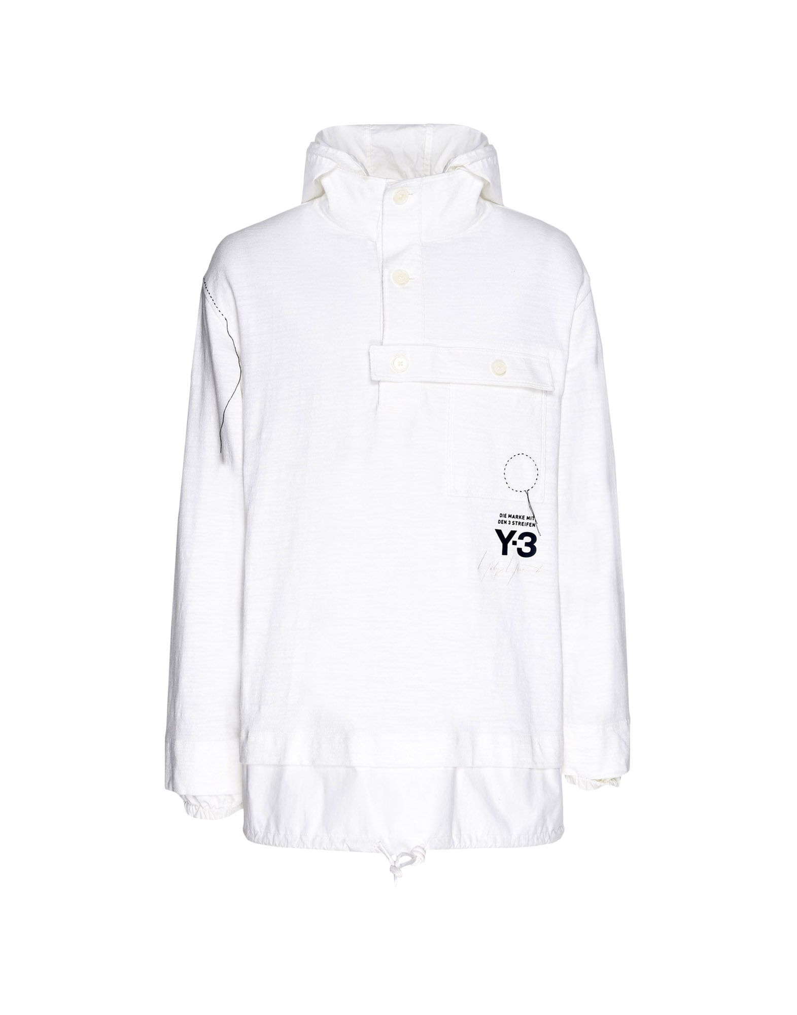Y-3 Y-3 Sashiko Layered Hoodie Hooded sweatshirt Man f