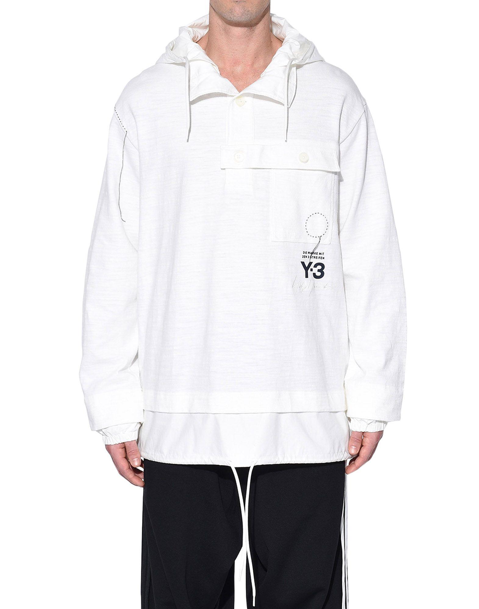 Y-3 Y-3 Sashiko Layered Hoodie Hooded sweatshirt Man r