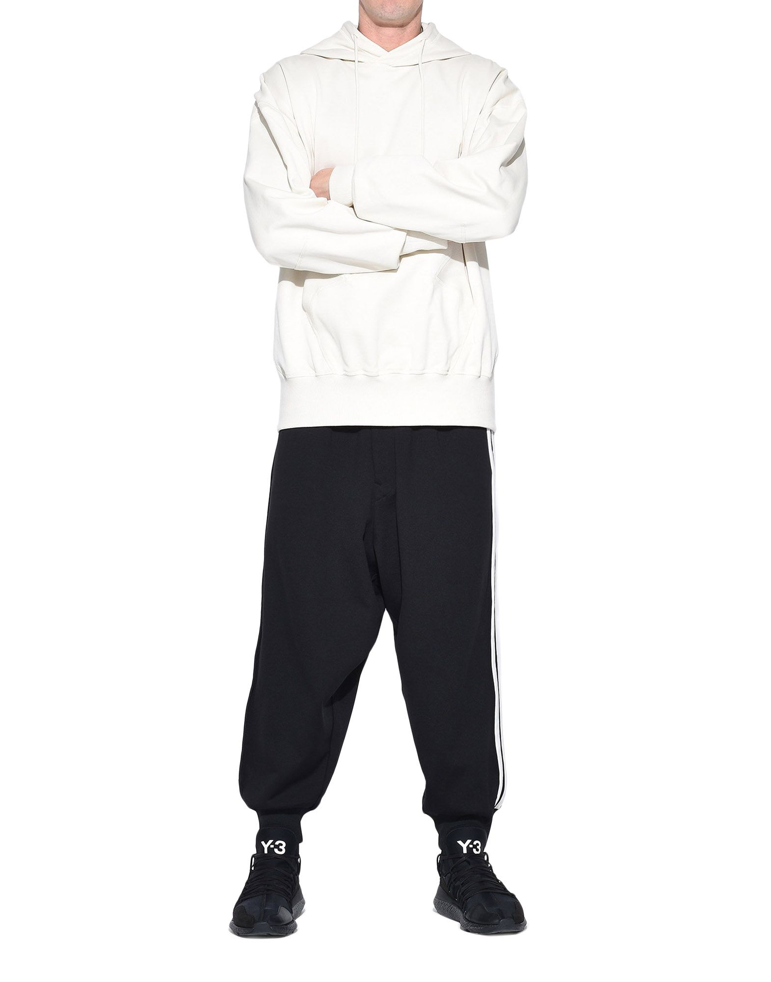 Y-3 Y-3 Stacked Logo Hoodie Hooded sweatshirt Man a