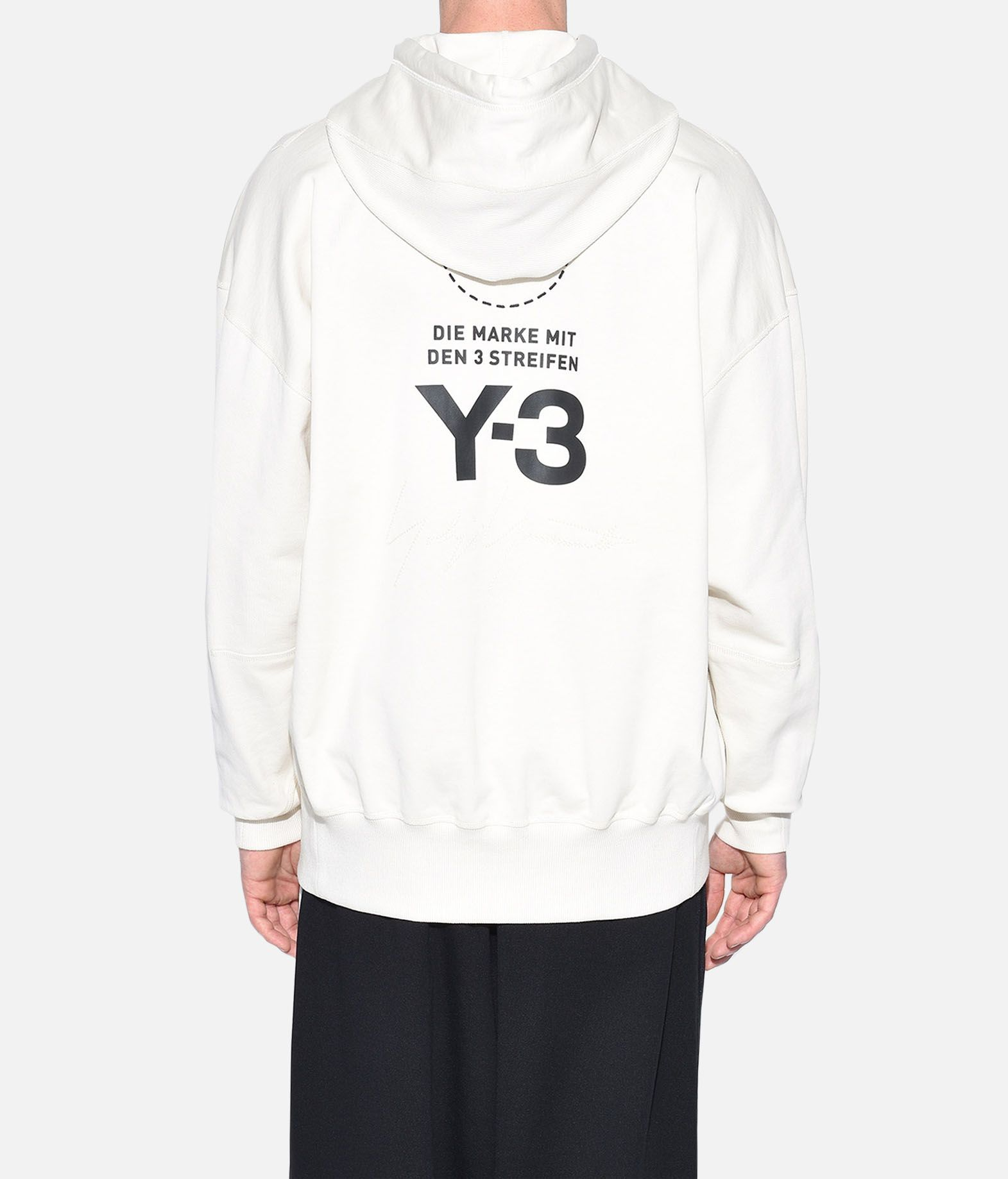 Y-3 Y-3 Stacked Logo Hoodie Hooded sweatshirt Man d