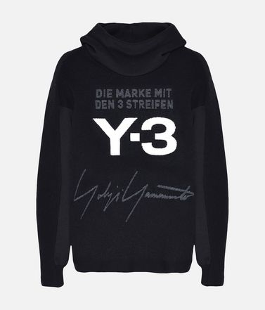 Y-3 Knitted Stacked Logo Hoodie