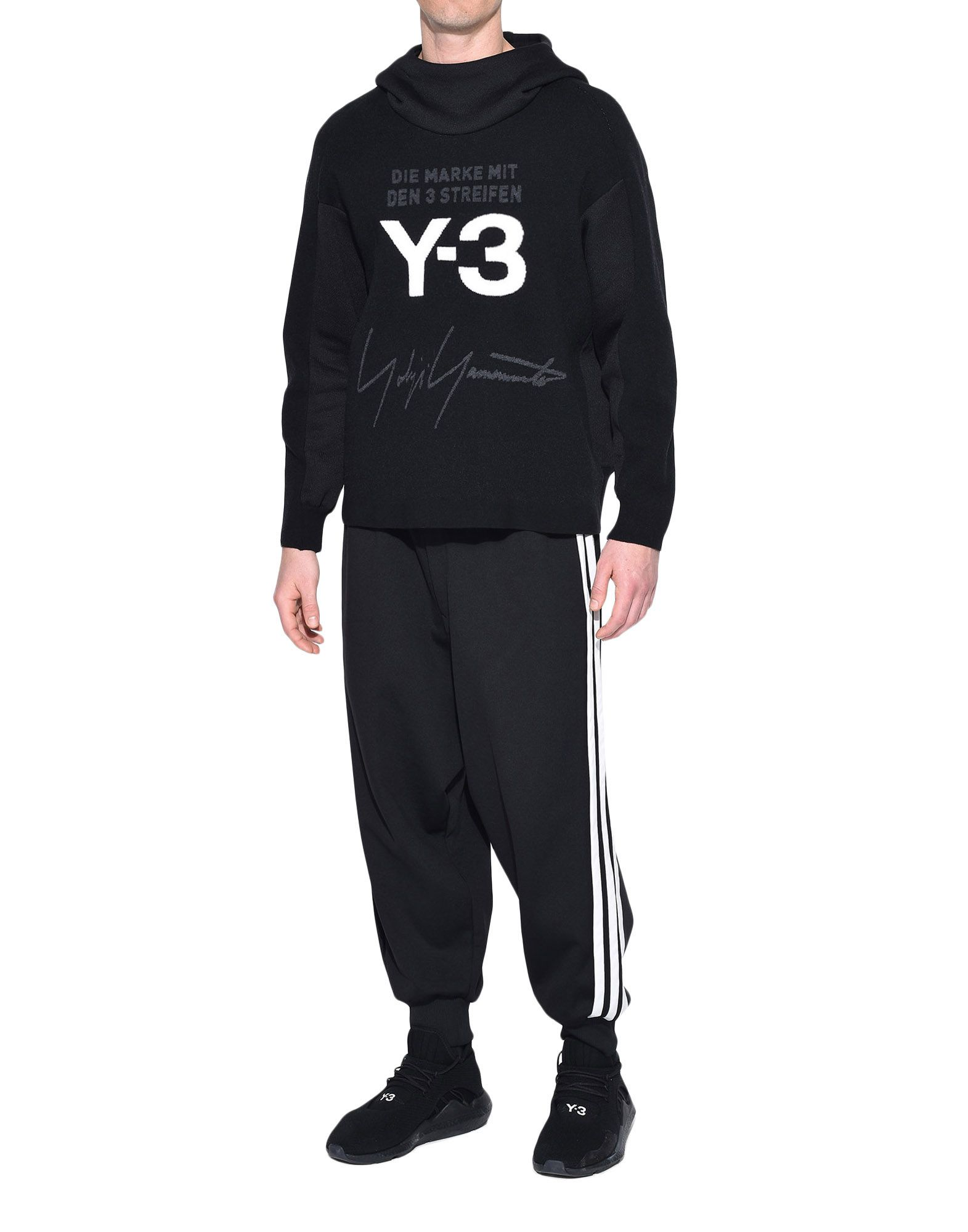 Y-3 Y-3 Knitted Stacked Logo Hoodie フード付きトレーナー メンズ a