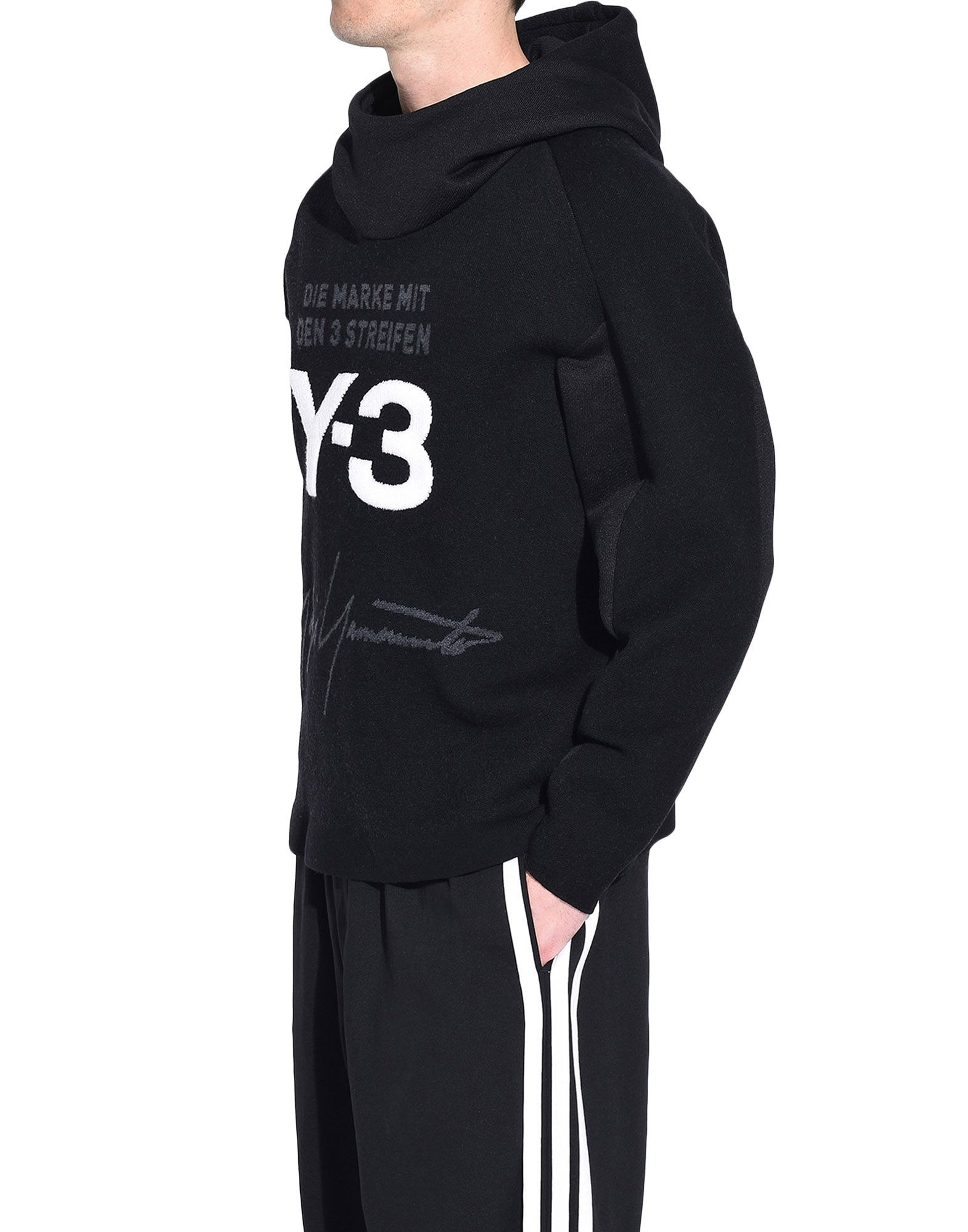 Y-3 Y-3 Knitted Stacked Logo Hoodie フード付きトレーナー メンズ e