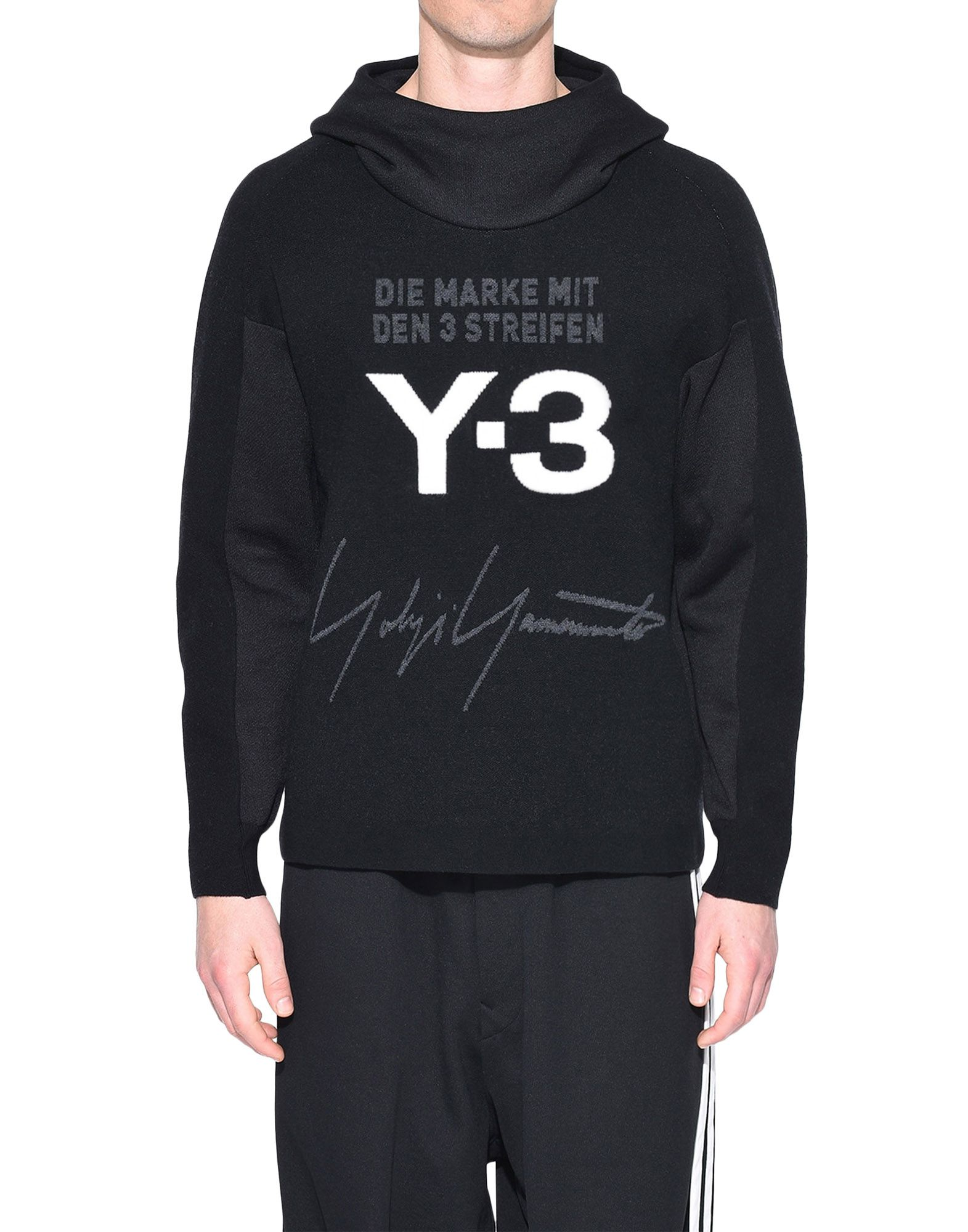Y-3 Y-3 Knitted Stacked Logo Hoodie フード付きトレーナー メンズ r