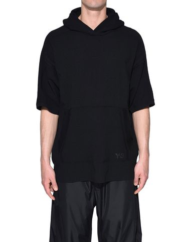 Y-3 Short sleeve jumper Man Y-3 Tech Wool Hoodie r