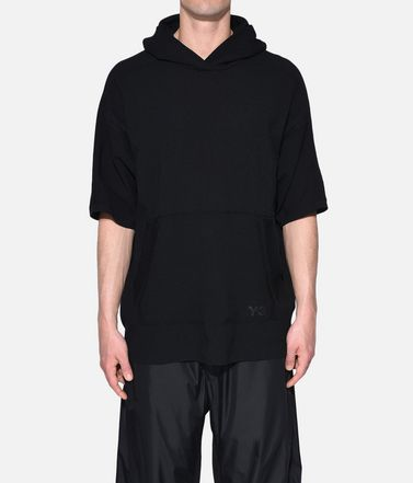 Y-3 Short sleeve sweater Man Y-3 Tech Wool Hoodie r